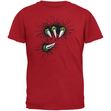 Dinosaur Claw Red Adult T-Shirt
