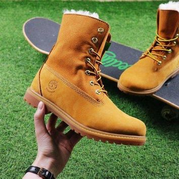 DCCKGV7 Best Online Sale Timberland Authentics Waterproof Fold Down Shearling Wheat-colored Mid Boots Outdoor Sneaker