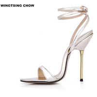 Sexy Strap Women Shoe Size 43 Summer Sandal Fashion High Heel Sandals