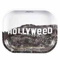 SMOKE ARSENAL ROLLING TRAY SMALL 7'' X 5.5'' - HOLLYWEED