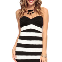 Passport to England Strapless Bandage Dress