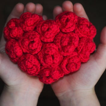 Shop Crochet Heart Pattern On Wanelo