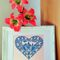 Mum Heart Papercut, Mothers Day Gift, Fully Customisable