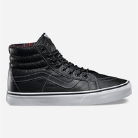 Vans Leather Sk8-Hi Reissue Shoes Black/White  In Sizes