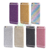 For iPhone 6 6s Sticker Luxury Bling Full Body Decal Glitter Back Film Sticker Case Cover  Free Shipping