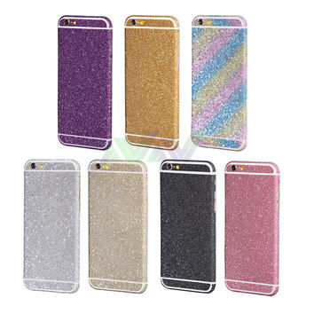 Cool camouflage Diamond Glitter Bling Decals Sticker Protector Case For iPhone 6 plus for ipone 6splus 6s plus free shipping