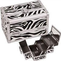 College Girl Cosmetic Case - Zebra Case With Mirror