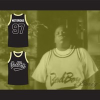NOTORIOUS B.I.G. Bad Boy Black Basketball Jersey