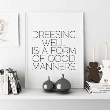 Fashion print,Fashionista,Wall Art,Tom Ford Quote,Home Decor,Office Wall Art,Inspirational Quote,Black And White,Wall ArtWork,Printable