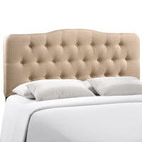 Annabel King Fabric Headboard in Beige