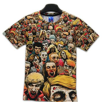 Summer Styles T-Shirt New The Walking Dead Men T Shirts Walker Skull Zombies High Quality Crewneck Top Tees Short Sleeve Tshirt