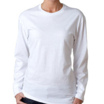 Next Level 3301L Women Long Sleeve Crew (White / M)