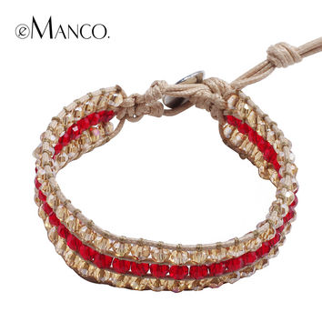 New simple design trendy adjustable fashion hand woven bracelet rope chain for women eManco 2015 fashion crystal jewelry BL06378