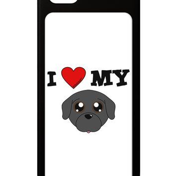 I Heart My - Cute Pug Dog - Black iPhone 5 / 5S Grip Case  by TooLoud
