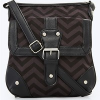 Chevron Canvas Crossbody