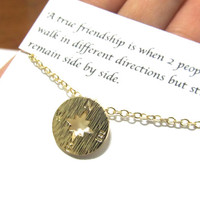 A1 Friendship Best Friend Gift Compass Necklace/Compass Necklace/Friendship necklace/friendship compass Necklace/Best friend friendship gift