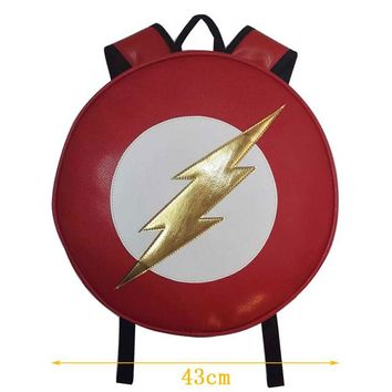 Anime Backpack School kawaii cute Flash Men Backpack Bags Super Hero Flashman Gift kids Campus School Bag mochila escolar Leather Round Shaped Backpack AT_60_4