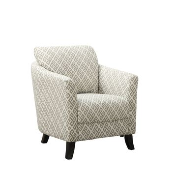 "Sandstone / Grey "" Maze "" Fabric Accent Chair"
