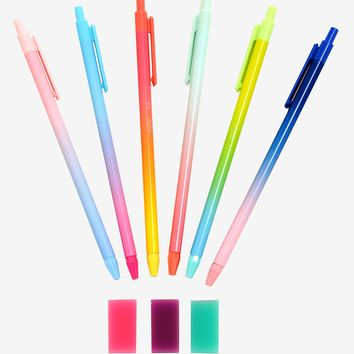 Oh My Ombre! Mechanical Pencils & Erasers Set