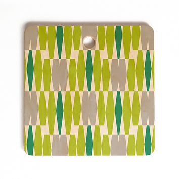 Heather Dutton Abacus Emerald Cutting Board Square