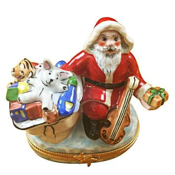 Santa Clause w Gifts Limoges Boxes