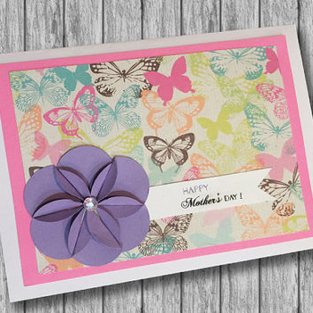 Handmade All Occasion Greeting Card, Happy Anniversary, Happy Mother's Day, Happy Birthday, Thank you, Congratulations, I love you, Thanks