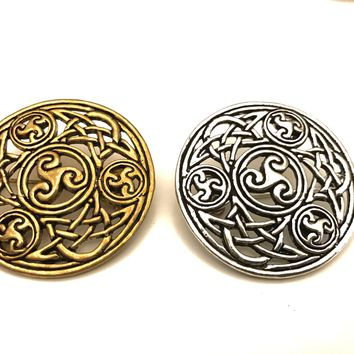 Celtic Brooch, Spiral Brooch, Celtic Brooch, Viking Brooch, Viking Jewelry, Cape Brooch, Celtic Pin, Celtic Motif