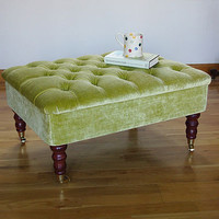 green velvet storage footstool by sharp & noble | notonthehighstreet.com