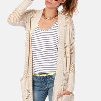 Element Eden Winnie Beige Knit Sweater