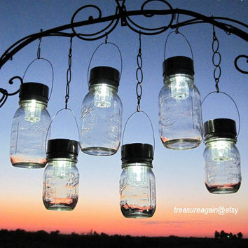 Outdoor Event Lighting Mason Jar Solar Lights, Wedding Lights, Hanging Lanterns for Parties, Garden or Events, no jars
