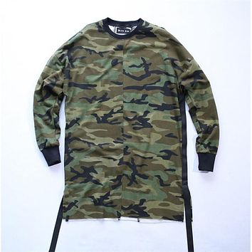 yeezy oversized camo Hip Hop justin bieber Clothes Street Wear Kpop urban Clothing Men