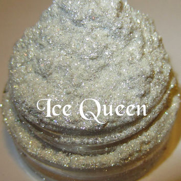 Ice Queen White/Platinum Neutral Shimmer Glitter Sparkle Mineral Eyeshadow Mica Pigment 5 Grams Lumikki Cosmetics