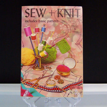 Sew and Knit Instructions How To Guide Paperback Book 1973  Hobbies and Crafts Includes Basic Wardrobe Patterns