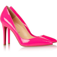 Christian Louboutin | The Pigalle 100 patent-leather pumps | NET-A-PORTER.COM