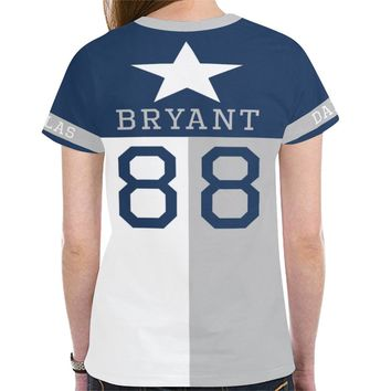 Dallas Football #88 (2010-2017) State of Texas Flag Women's Mesh Jersey T-Shirt