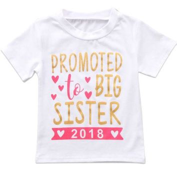 Promoted To Big Sister - Girl Baby Kid Child Toddler Newborn Shirt