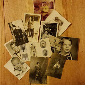 Autumn Sales Event 16 Vintage Photos, from 1936 to the 1970's, Black & White, One color