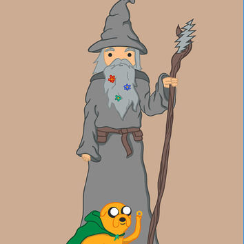 Grateful Gandalf Pin - Lord of the Rings Adventure Time Grateful Dead Hat Pin