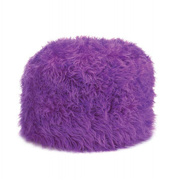Large Shaggy Fur Beanbag Cover Blue Pink From Ivory And