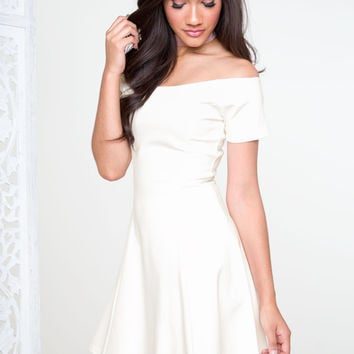 Shaylyn Off The Shoulder Dress - Ivory
