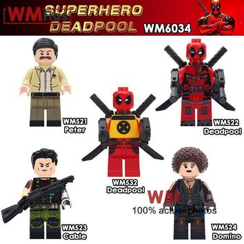 Deadpool Dead pool Taco Single  Peter Domino Cable Movie Figures Super Heroes Building Blocks Kids Brick Education Gifts Boys Toys for Children AT_70_6