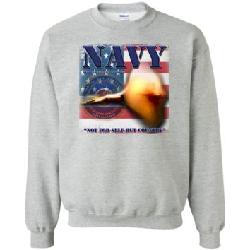 UNITED STATES NAVY : NAVIAR : NAVAL AIR SYSTEMS COMMAND: G180 Gildan Crewneck Pullover Sweatshirt  8 oz.