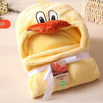 Animal Hooded Baby Towel with Microfiber Fabric