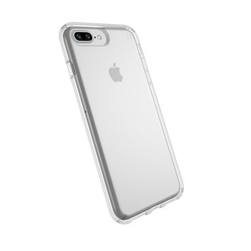 Speck Products Presidio Clear Case for iPhone 8 Plus (Also fits 7 Plus and 6S/6 Plus), Clear/Clear