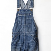 AEO Women's Denim Shortall (Medium Destroyed)