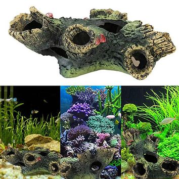Resin Aquarium Decoration Artificial Driftwood for Fish Tank Aquatic Pet Supply