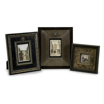 3 Picture Frames - Gray, Brown, And Black