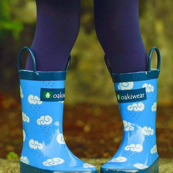 Oakiwear Blue Cloud Rain Boot - Kids