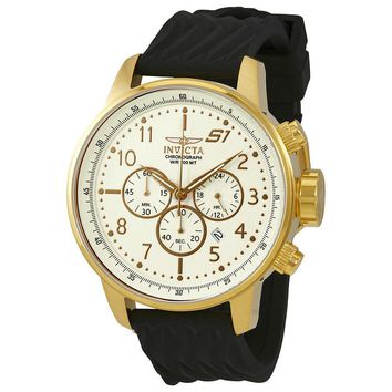 Invicta S1 Rally Chronograph Ivory Dial Mens Watch 23815