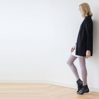 Knitted black short cardigan, Knit winter coatigan